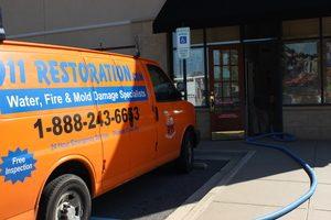 Sewage-removal-van